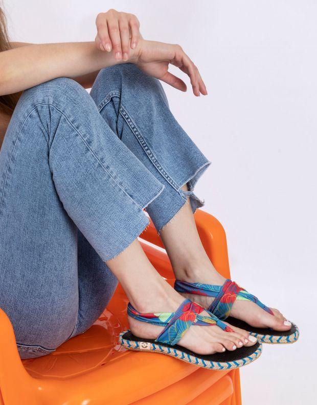 נעלי נשים - Nalho - סנדלים GANIKA FLOWER - כחול