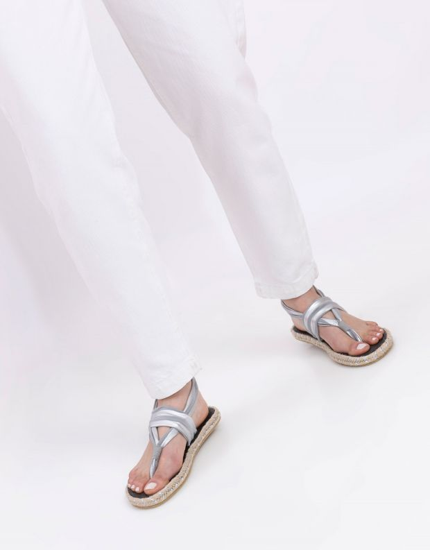 נעלי נשים - Nalho - סנדלים GANICA METALLIC - אפור  כסף