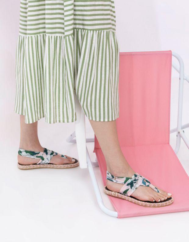 נעלי נשים - Nalho - סנדלים GANIKA FLOWER - ורוד