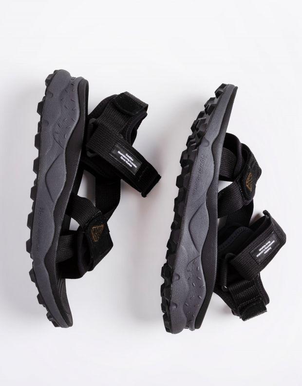 נעלי גברים - Flower Mountain - סנדלי רצועות סקוטש NAZCA - שחור
