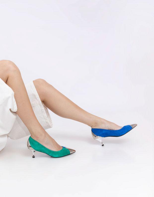 נעלי נשים - Jeffrey Campbell - נעלי סירה NATALIE - כחול   ירוק