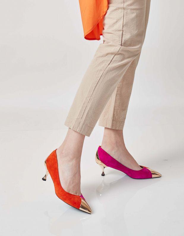 נעלי נשים - Jeffrey Campbell - נעלי סירה NATALIE - ורוד   כתום