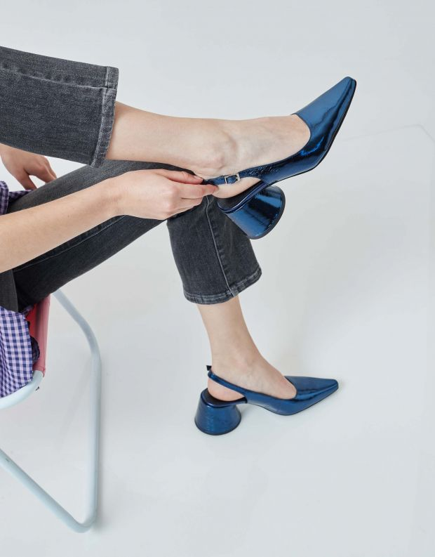 נעלי נשים - Jeffrey Campbell - סירה FERRA - כחול