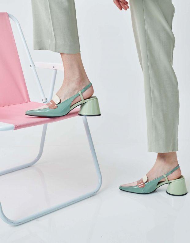 נעלי נשים - Jeffrey Campbell - נעלי סירה FERWAY - ירוק   ורוד