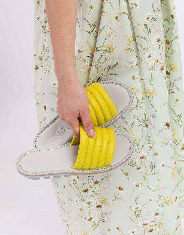 נעלי נשים - Trippen - כפכפים LETTE CLOSED - צהוב