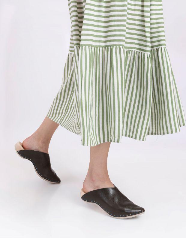 נעלי נשים - Trippen - כפכפי עץ LORETTA WOOD - זית
