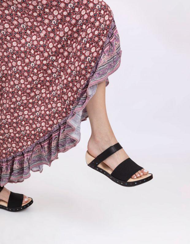 נעלי נשים - Trippen - כפכפי עץ SPIAGGIA WOOD - שחור