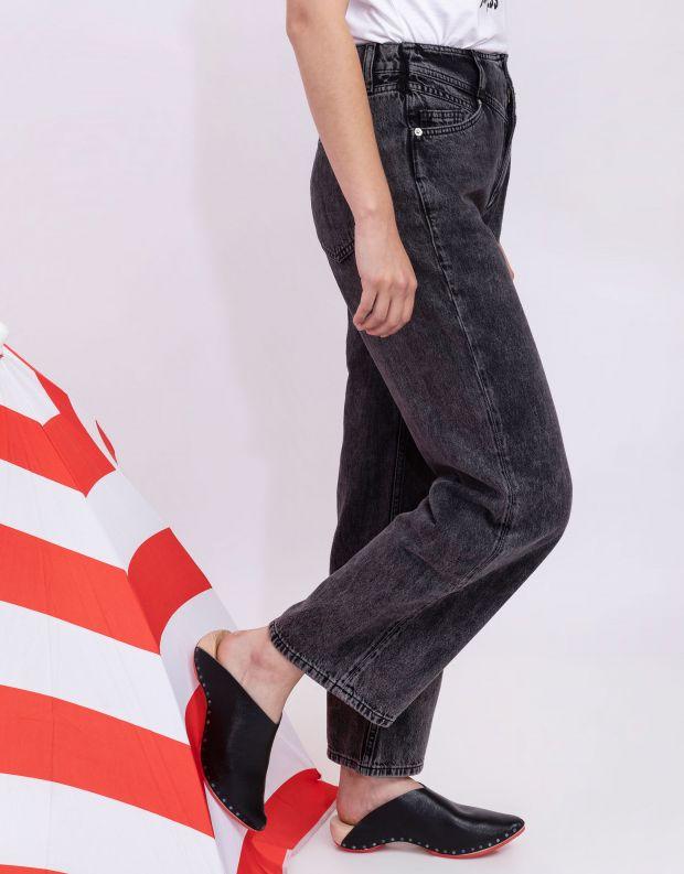 נעלי נשים - Trippen - כפכפי עץ LORETTA WOOD - שחור