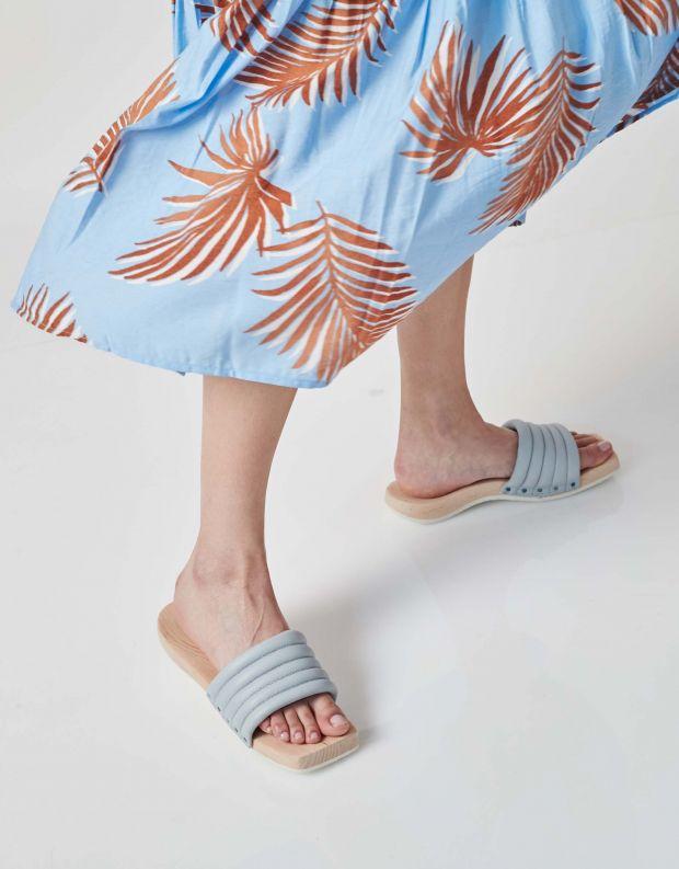 נעלי נשים - Trippen - כפכפי עץ  SPA - אפור בהיר