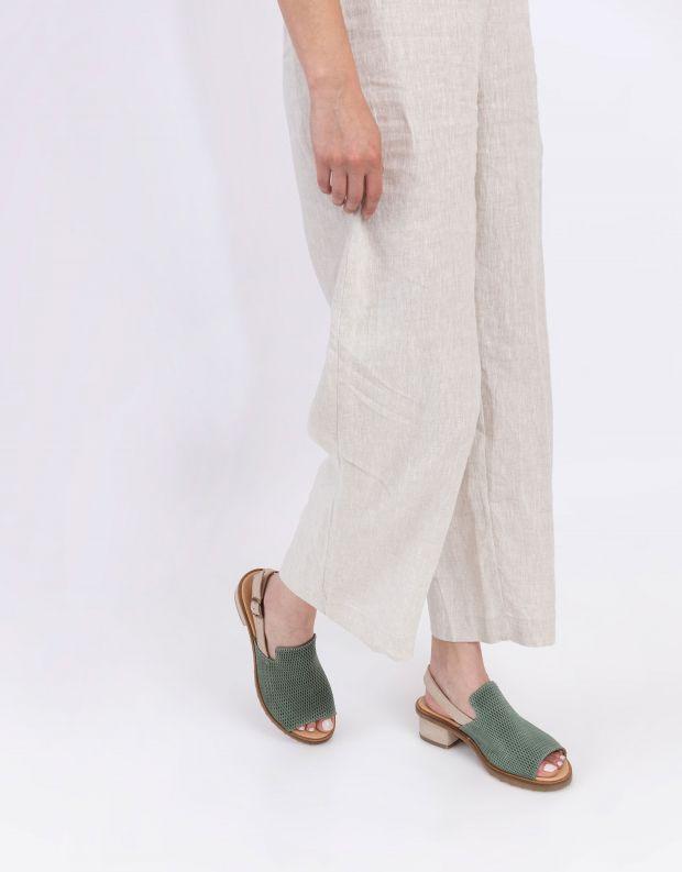 נעלי נשים - El Naturalista - סנדלי עקב SABAL - חאקי