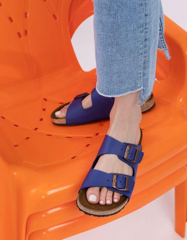 נעלי נשים - El Naturalista - כפכפי WARAJI VEGAN - כחול