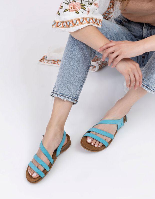 נעלי נשים - El Naturalista - סנדלי רצועות PANGALO - טורקיז