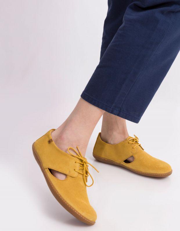 נעלי נשים - El Naturalista - נעלי עור EL VIAJERO - צהוב
