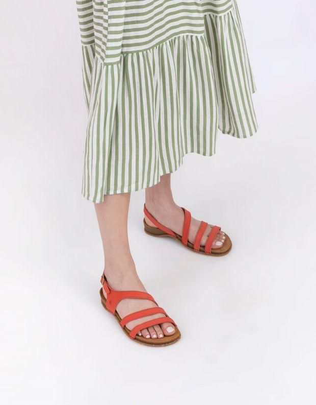 נעלי נשים - El Naturalista - סנדלי רצועות PANGALO - כתום