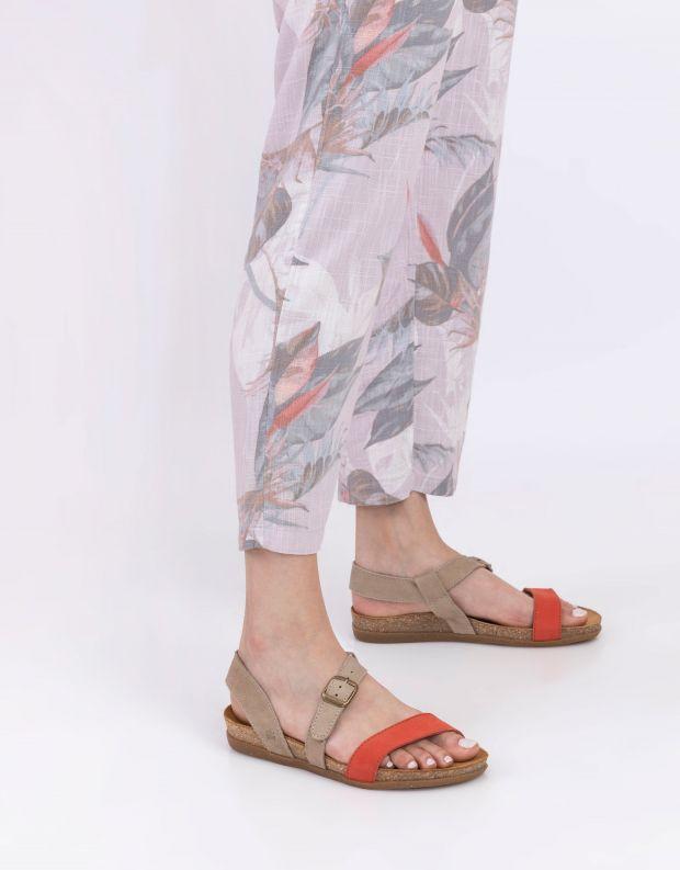 נעלי נשים - El Naturalista - סנדלי רצועות ZUMAIA - אדום בז'