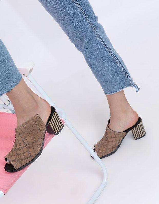נעלי נשים - Papucei - כפכפים עם עקב GLAN - בז'