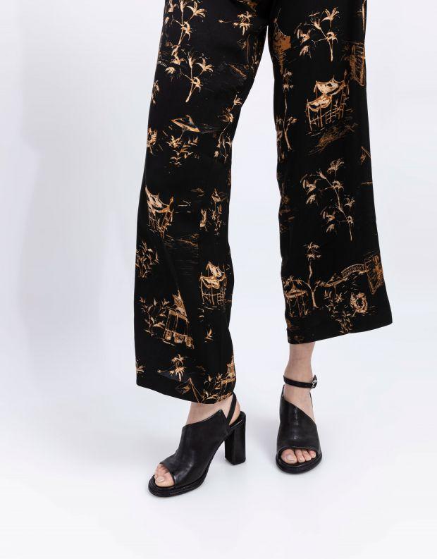 נעלי נשים - A.S. 98 - סנדלי עקב וקולר BASILE - שחור
