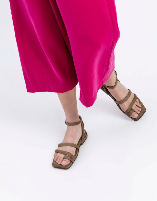 נעלי נשים - A.S. 98 - סנדלי רצועות שטוחים TAKE - חאקי