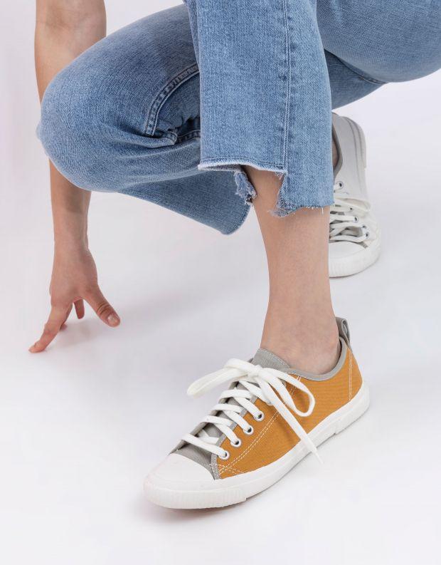 נעלי נשים - Komodo - סניקרס ECO - צהוב   לבן