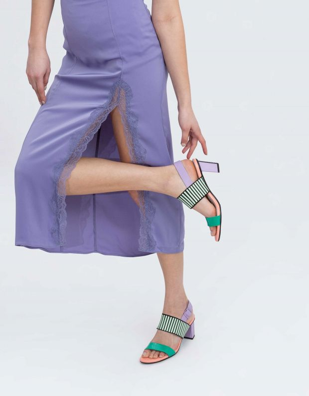 נעלי נשים - United Nude - סנדלי POP MID - צבעוני