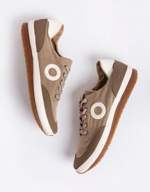 נעלי גברים - Aro - סניקרס בד JAQ - חום בהיר