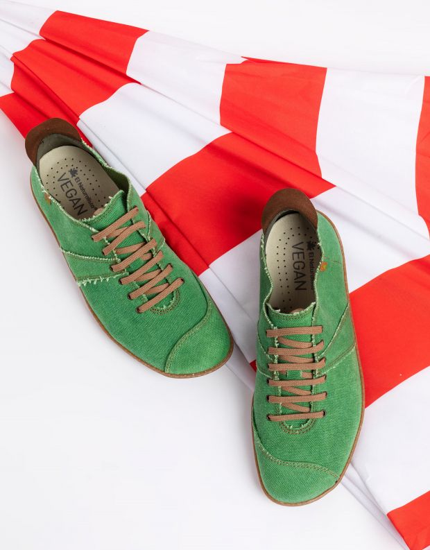 נעלי גברים - El Naturalista - נעלי בד טבעוניות EL VIAJE - ירוק