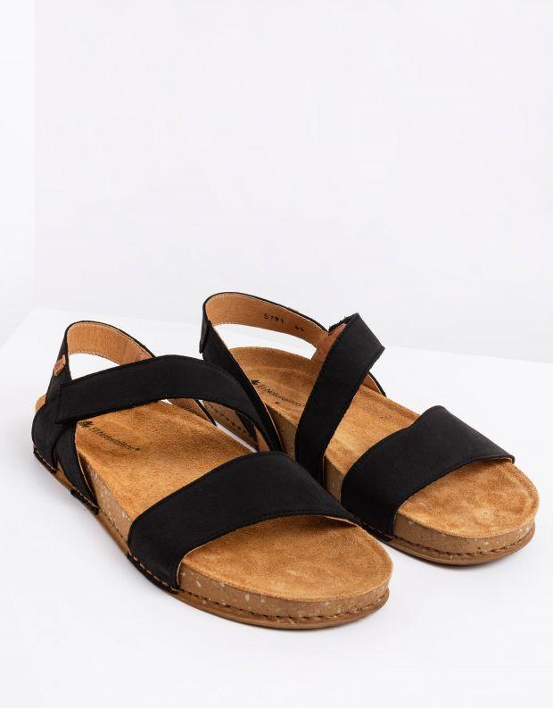 נעלי גברים - El Naturalista - סנדלי עור BALANCE - שחור