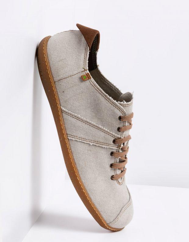 נעלי גברים - El Naturalista - נעלי בד טבעוניות EL VIAJE - אבן