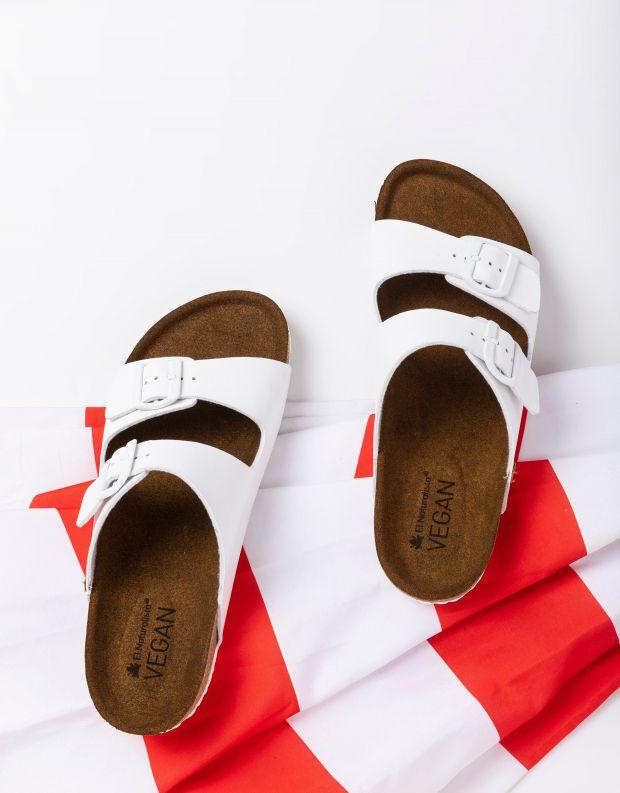 נעלי גברים - El Naturalista - כפכפי WARAJI VEGAN - לבן