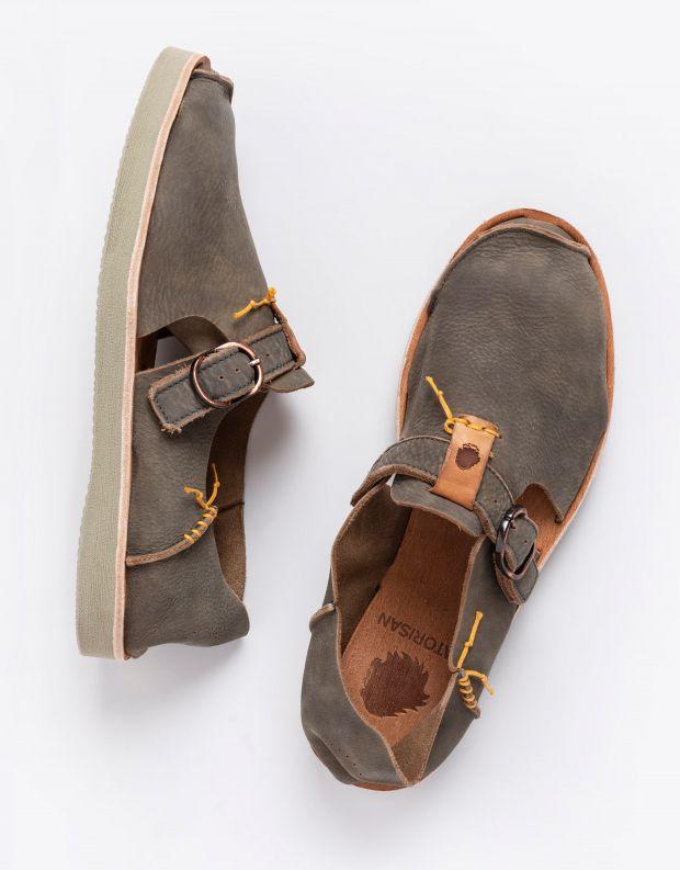 נעלי גברים - Satorisan - נעלי עור BENIRRAS - אבן