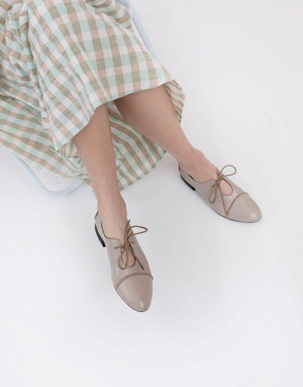 נעלי נשים - Yuko Imanishi - נעליים שטוחות HARU - אפור