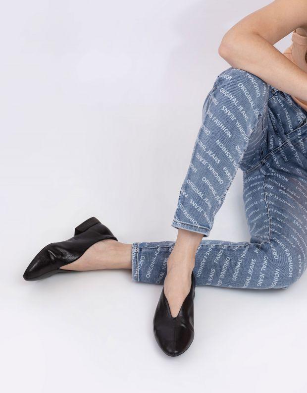 נעלי נשים - Yuko Imanishi - נעלי סירה שטוחות MIYU - שחור
