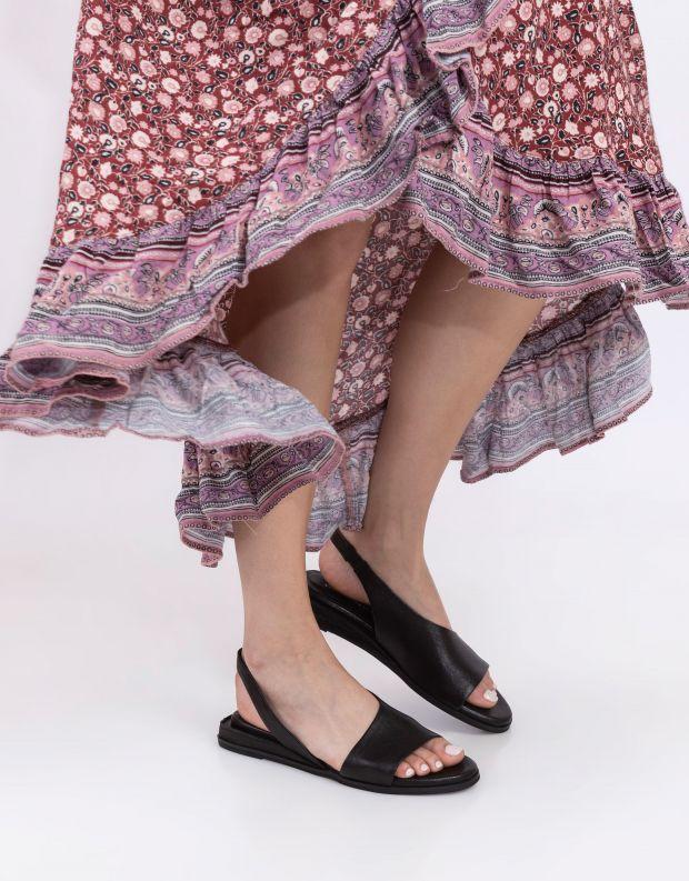 נעלי נשים - Yuko Imanishi - סנדלים שטוחים RISA - שחור