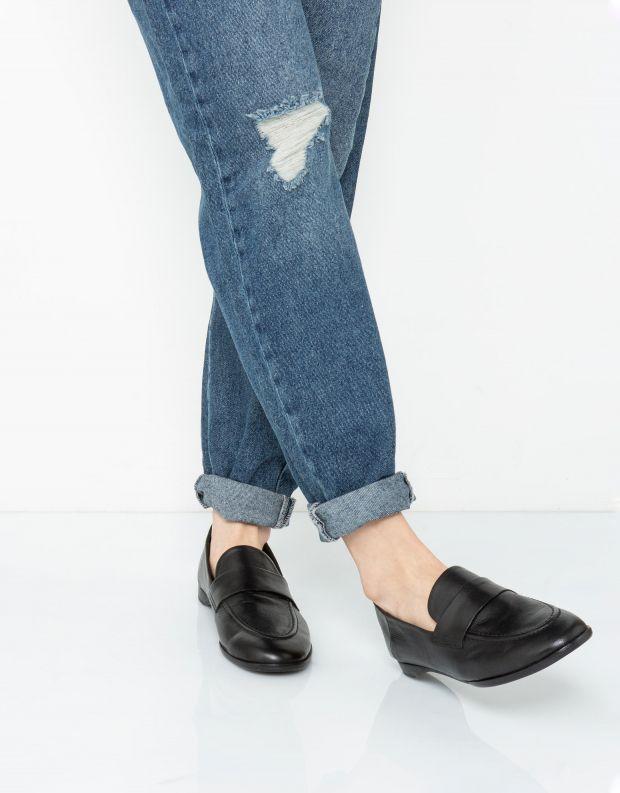 נעלי נשים - Yuko Imanishi - נעלי מוקסינים MAYU - שחור