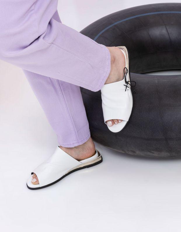 נעלי נשים - Yuko Imanishi - כפכפים שטוחים MIRI - לבן
