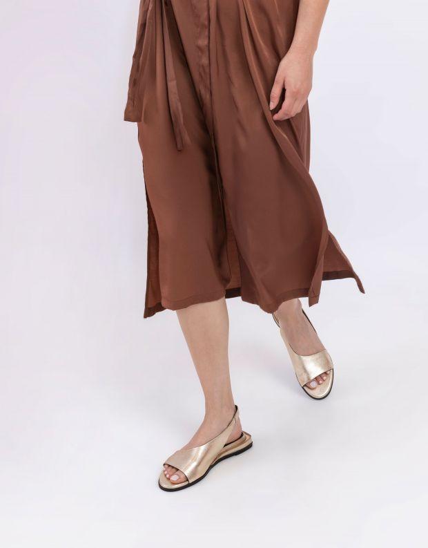 נעלי נשים - Yuko Imanishi - סנדלים שטוחים RISA - זהב