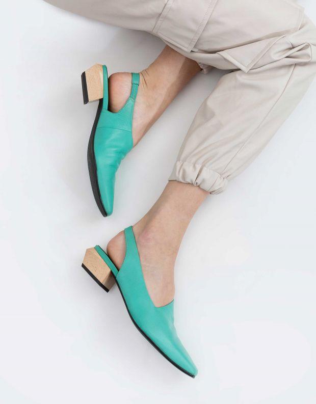 נעלי נשים - Yuko Imanishi - נעלי סירה KAREN - ירוק