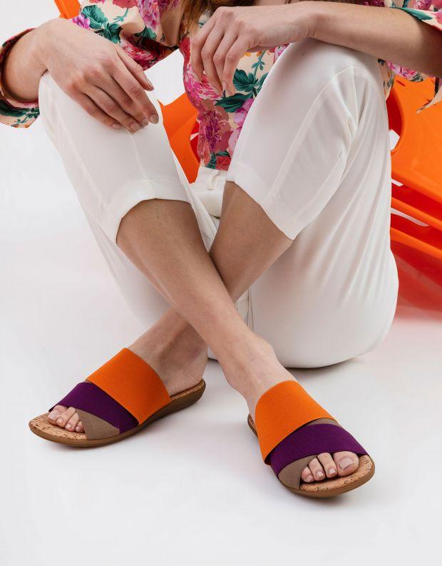 נעלי נשים - NR Rapisardi - כפכפי רצועות שטוחים CRAS - כתום   סגול