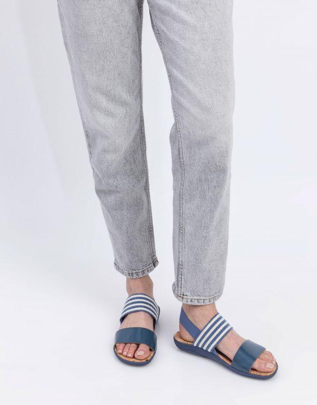 נעלי נשים - NR Rapisardi - סנדלים שטוחים CRIU - כחול