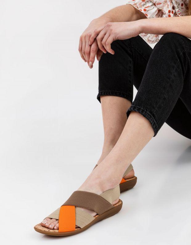 נעלי נשים - NR Rapisardi - סנדלי רצועות שטוחים CRUB - חום   כתום
