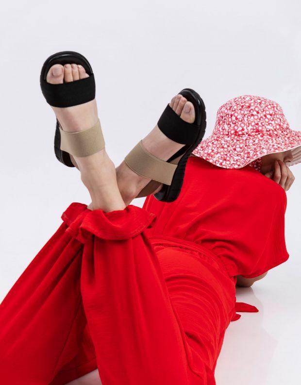 נעלי נשים - NR Rapisardi - סנדלי רצועות LAUREN - שחור חום