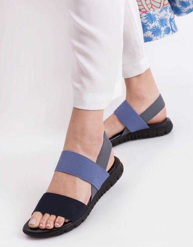 נעלי נשים - NR Rapisardi - סנדלי רצועות LAUREN - כחול   אפור