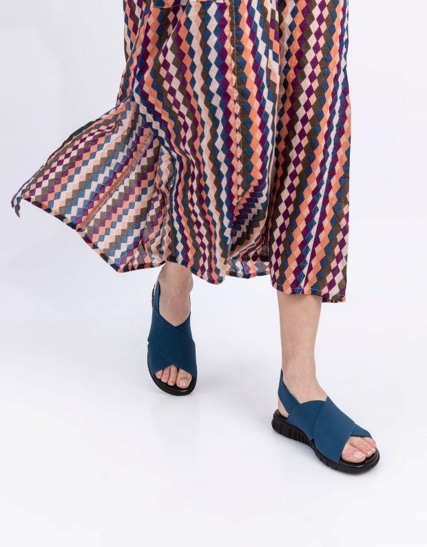 נעלי נשים - NR Rapisardi - סנדלי איקס LESLIE - כחול