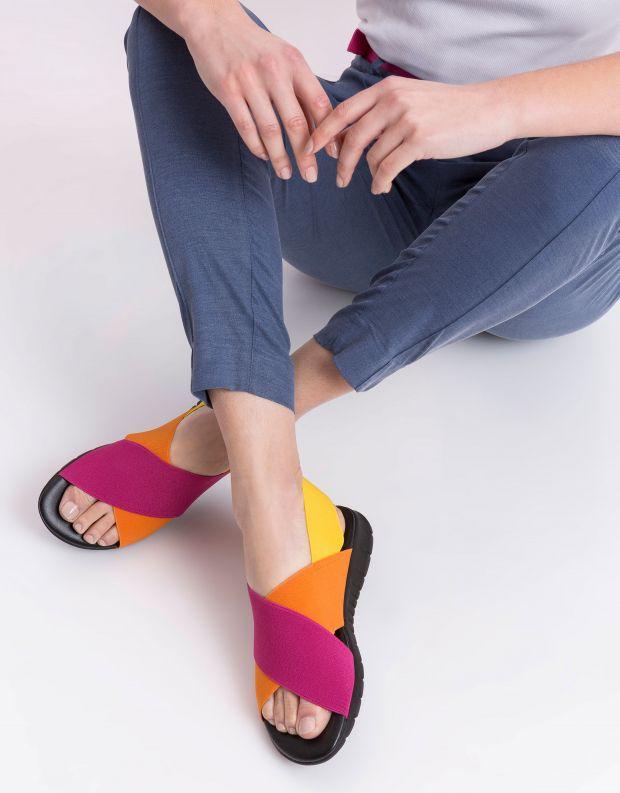 נעלי נשים - NR Rapisardi - סנדלים צבעוניים LESLIE - ורוד   כתום