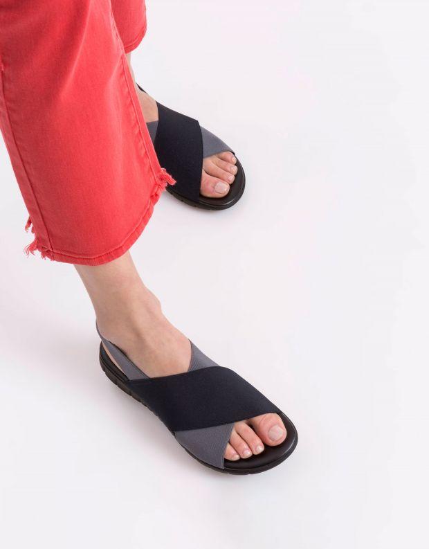 נעלי נשים - NR Rapisardi - סנדלים משולבים LESLIE - כחול   אפור