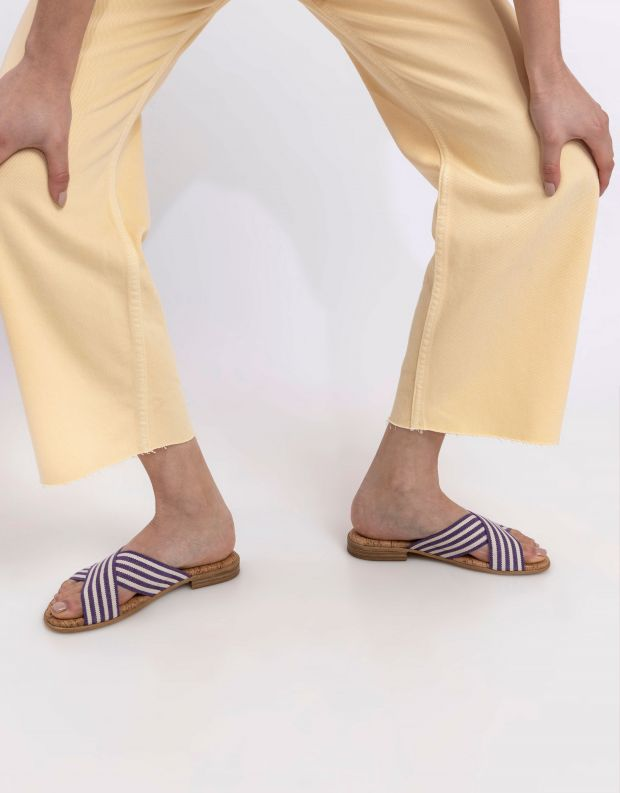 נעלי נשים - NR Rapisardi - כפכפי איקס שטוחים PRATO - סגול