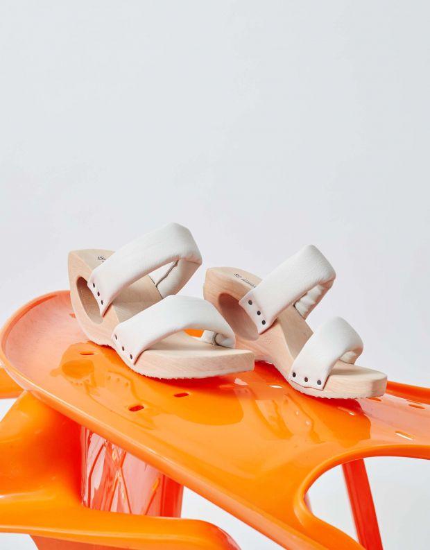 נעלי נשים - Trippen - כפכפי עץ TIRE WOOD - אופוויט