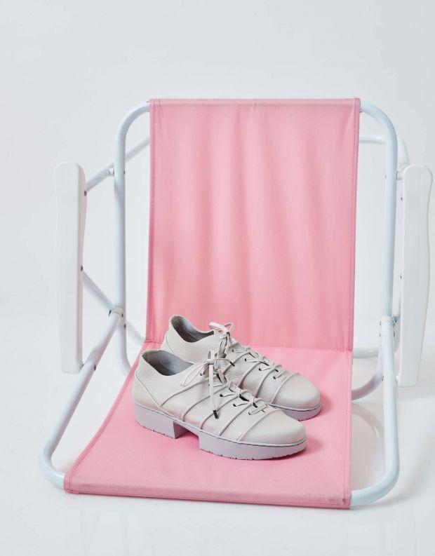 נעלי נשים - Trippen - נעלי עור SYSTEM SPORT - אפור בהיר