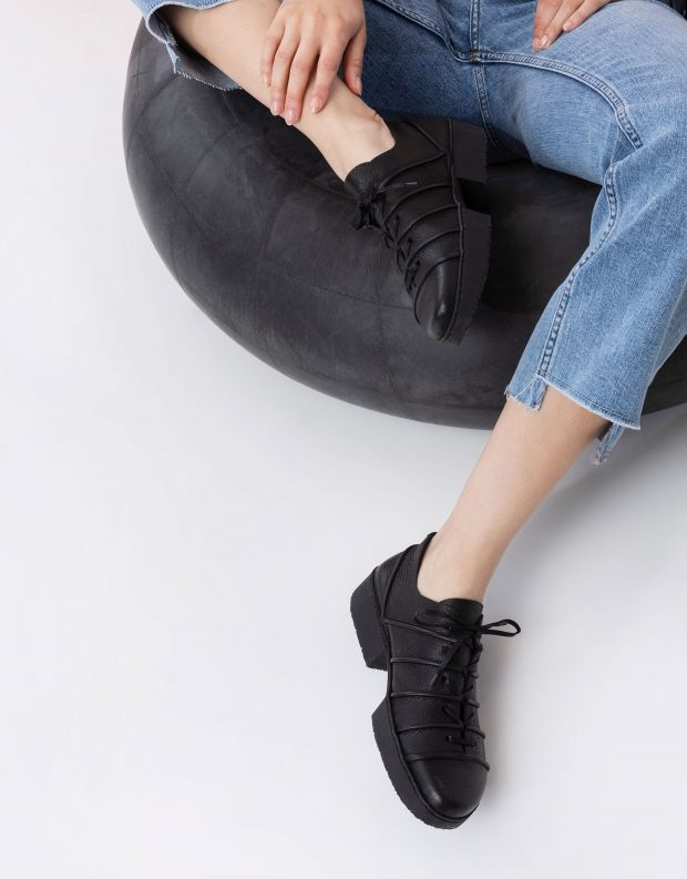 נעלי נשים - Trippen - נעלי עור SYSTEM SPORT - שחור