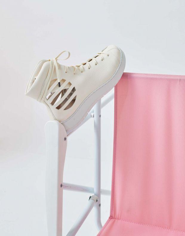 נעלי נשים - Trippen - נעליים גבוהות BLASTER SWA - לבן